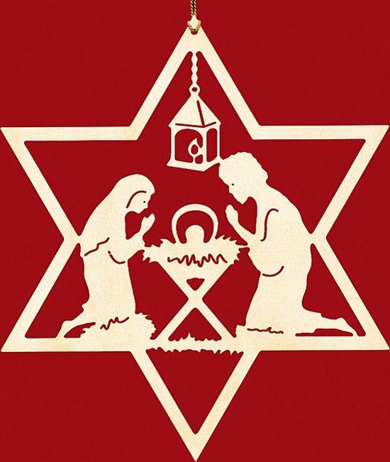 Taulin Fensterbild Weihnachten Christgeburt Im Stern Schneeflocken