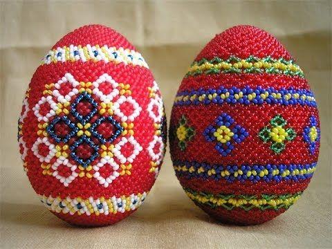 вязание бисером мастер класс пасхальное яйцо из бисера часть 1