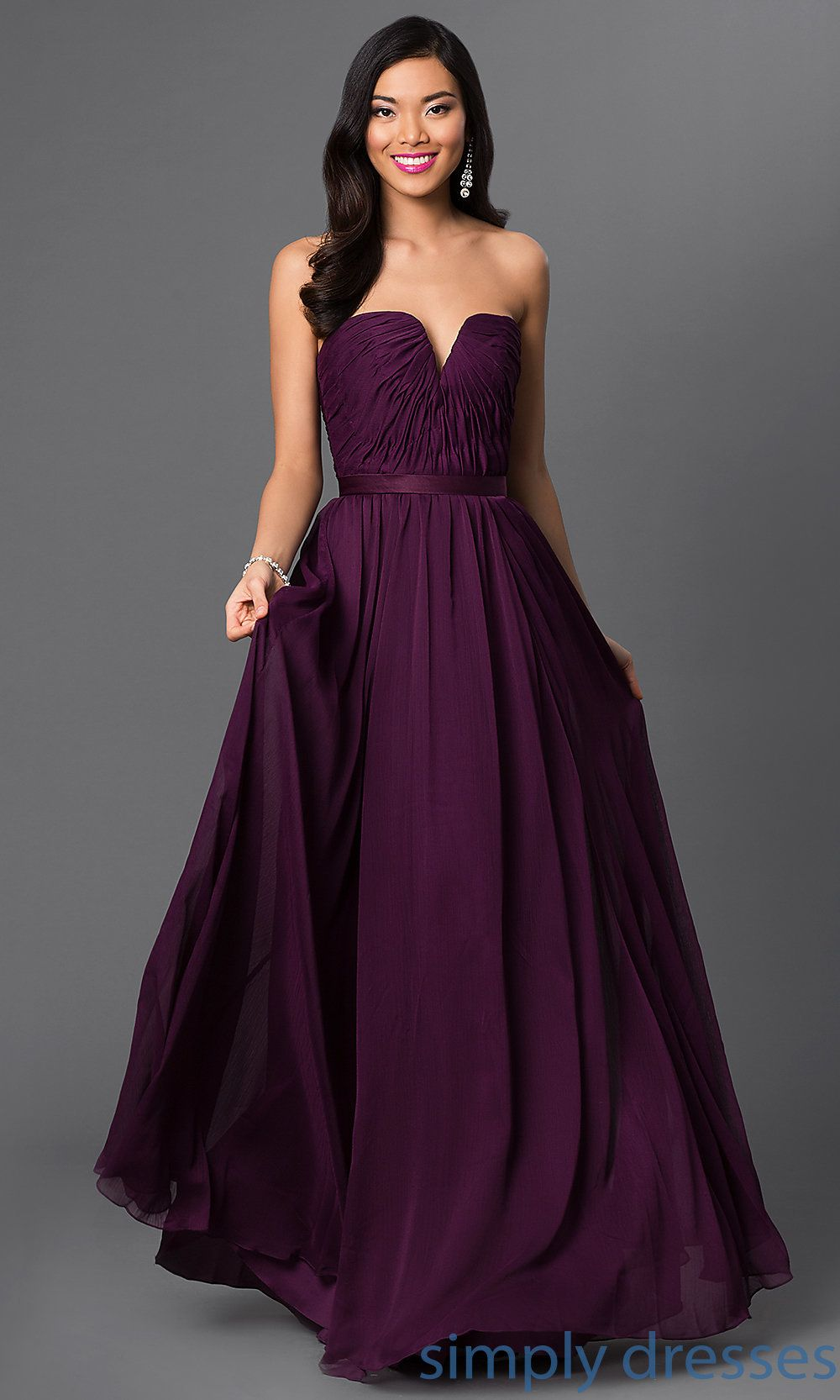 Long Purple Prom Gown by Mori Lee | PROM | Pinterest | Purple ...
