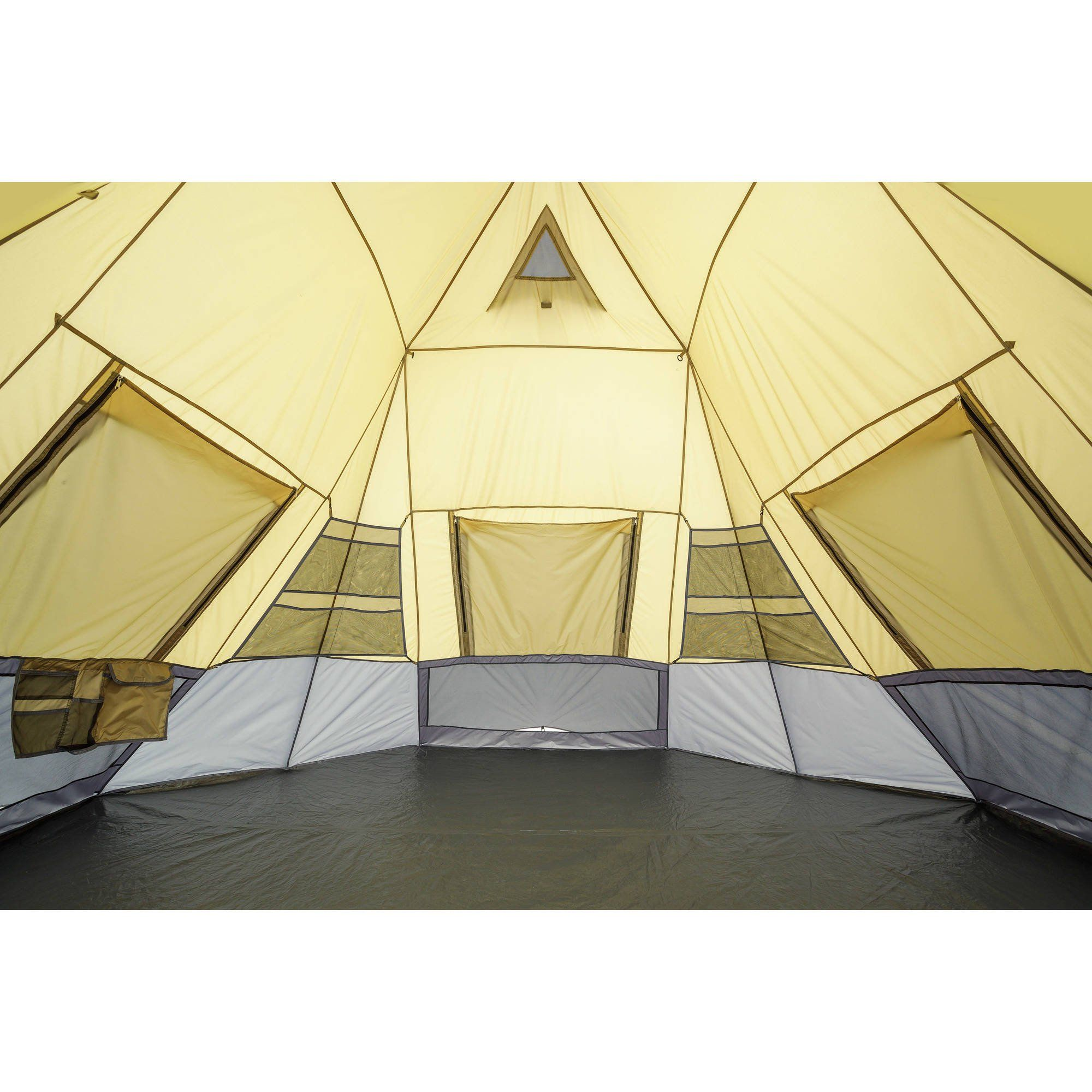 Ozark Trail 12 X 12 7 Person Instant Tepee Tent Walmart Com In 2021 Tent Teepee Tent Family Tent Camping