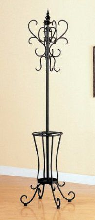 Amazon.com: Classic Black Metal Coat Rack Hat Stand w/Umbrella Holder: Home & Kitchen  Would be great for me with my photo props.  sigh.  WANT IT!!!!