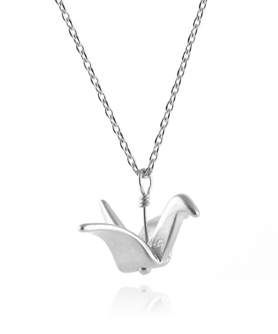 Look at this silvertone origami pendant necklace on zulily today look at this silvertone origami pendant necklace on zulily today mozeypictures Image collections
