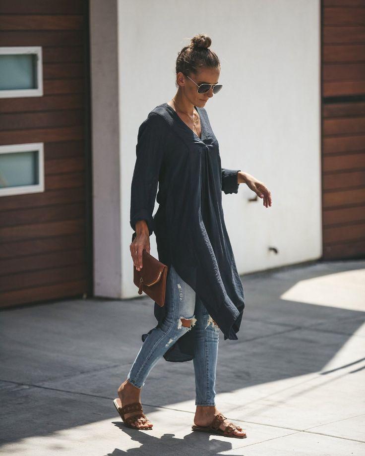 Photo of Plus Size V-neck Long Sleeve Shirt Dress