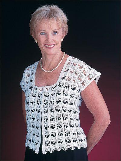 Square Neck Vest - Crochet this beautiful vest for a light summer ...