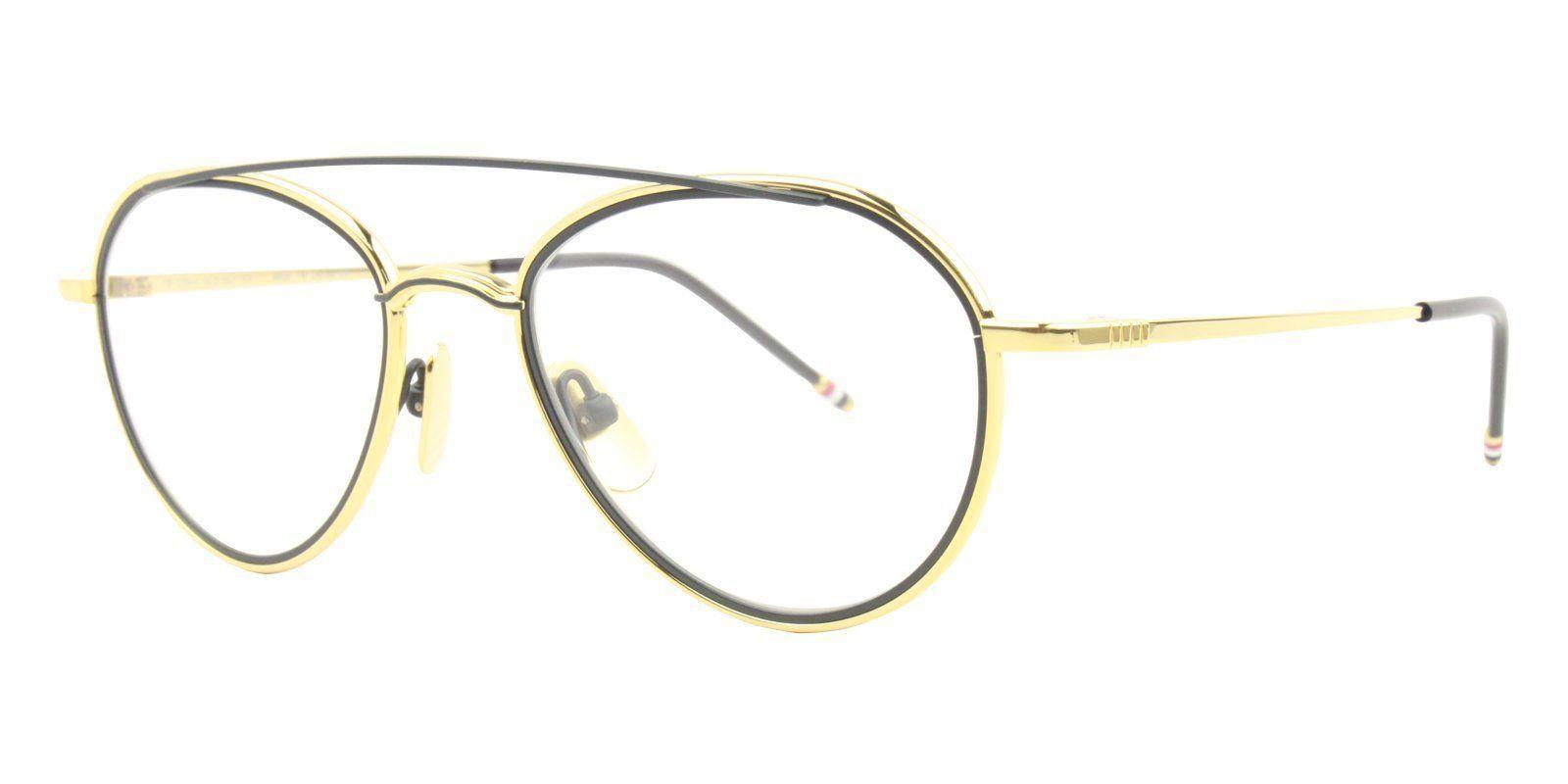 4b1bab90593b Thom Browne - TB-109 Yellow Gold - Matte Navy-eyeglasses-Designer Eyes