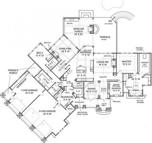 Luxury Custom Home Floor Plans: Big Canoe House Plan For Luxury Lakefront Custom Floor