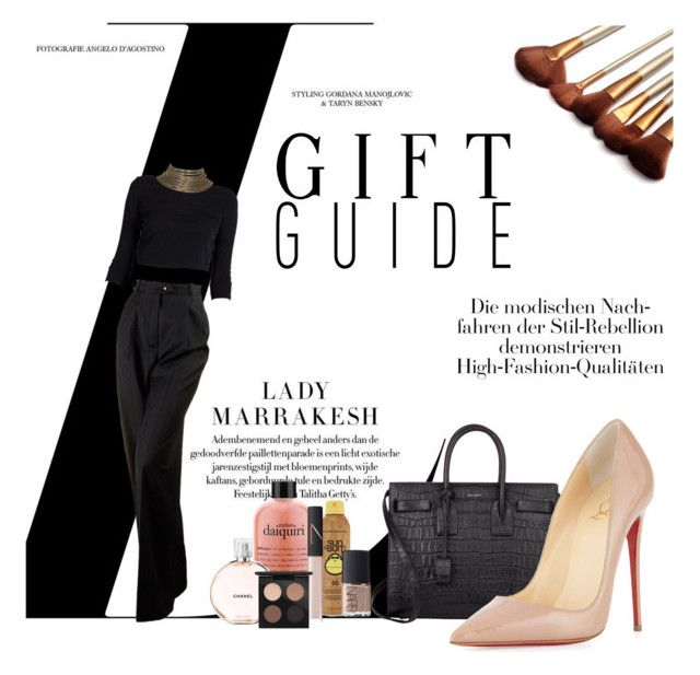 """""""Pinkie Week"""" by alexandraleru on Polyvore featuring Yves Saint Laurent, Christian Louboutin, Chanel, Forever 21, NARS Cosmetics and MAC Cosmetics"""