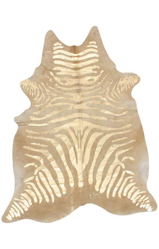 Rugs USA Natural Natural Zebra Cowhide Rug