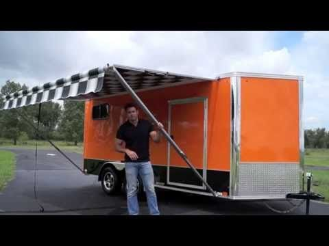 Great pop out YouTube | Cargo trailer conversion, Rv ...