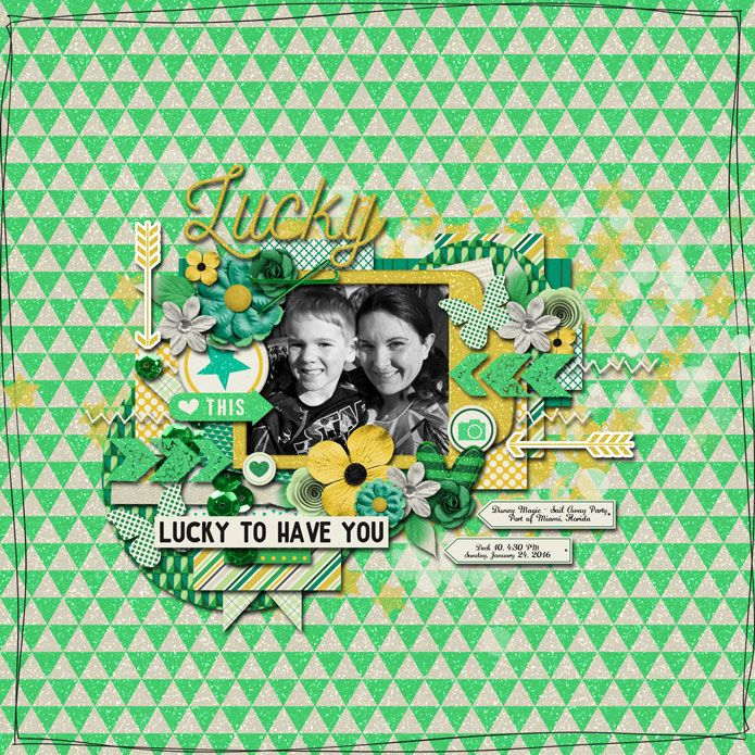 Template: Tinci Designs - Simple Pleasures Kit: Amanda Yi and Libby Pritchett - Celebrate: Luck http://www.sweetshoppedesigns.com/sw...805&page=1
