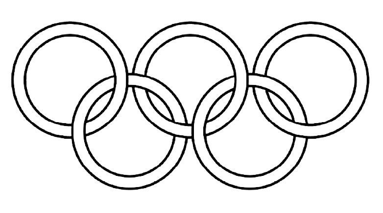 Olympic Ring Image To Colour In Click Here To Save A Copy Of