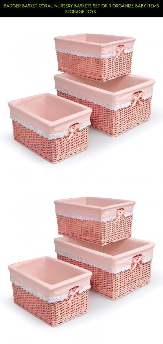 Superbe Badger Basket Coral Nursery Baskets Set Of 3 Organize Baby Items Storage  Toys #storage #