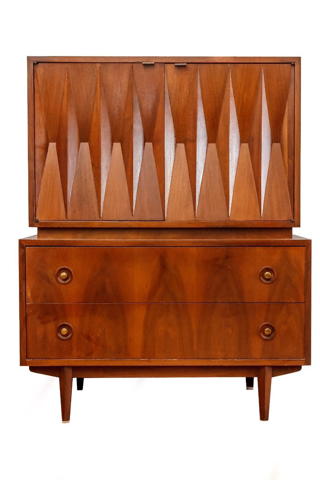 albert parvin attributed walnut cabinet by american of martinsville mid century meuble annee 50