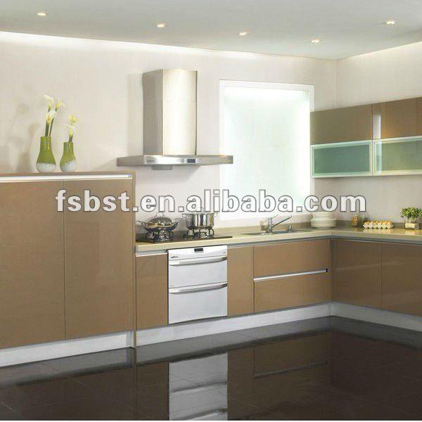 Moderno gabinete de cocina de diseño, el paquete plano cocina ...