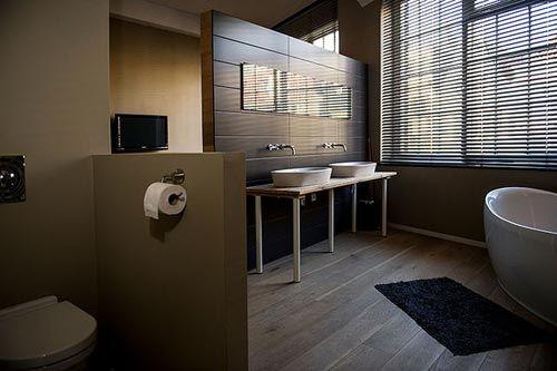 Slimme indeling voor slaapkamer met aansluitend een open badkamer ...