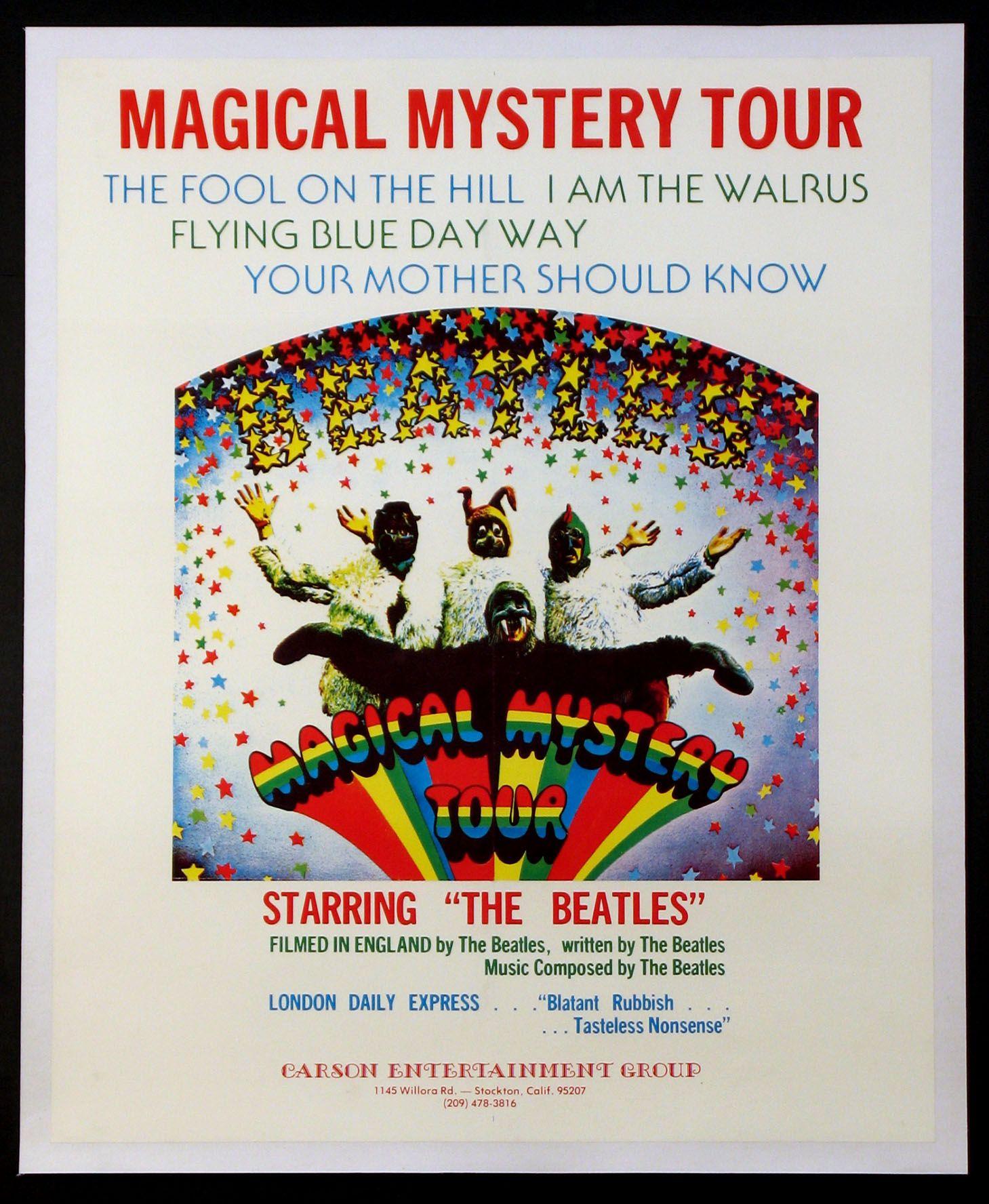 Magical Mystery Tour 1967 Original 23x29 Size Movie Poster Magical Mystery Tour Movie The Beatles Beatles Magical Mystery Tour