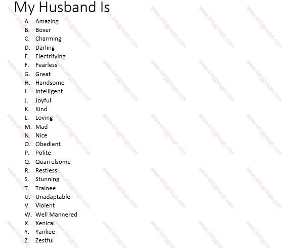 fun games to play with my husband
