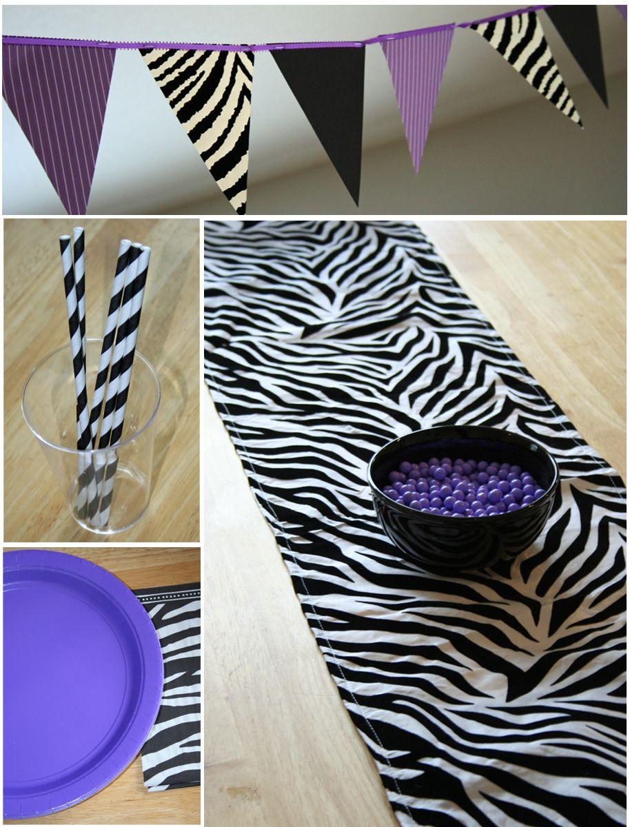 Zebra Party Zebra party Birthdays and Sweet 16