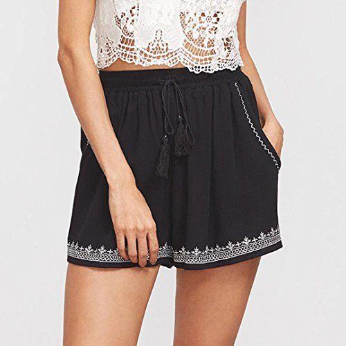 3b363a555c GoodLock Women Sexy Hot Pants Summer Casual Print Shorts High Waist Short  Pants,#Hot, #Pants, #Summer, #GoodLock