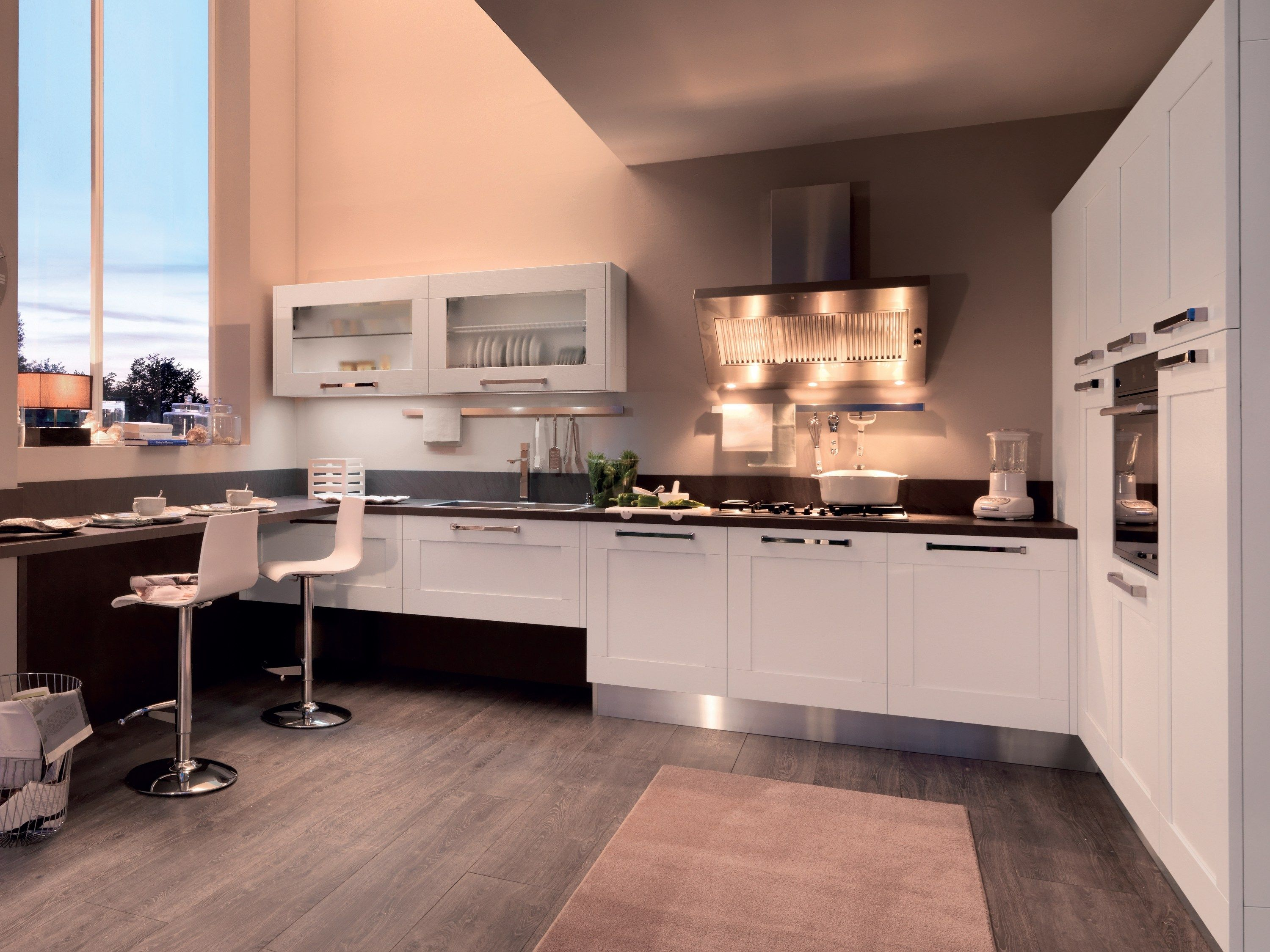 Lacquered ash kitchen with handles Gallery Collection by ...