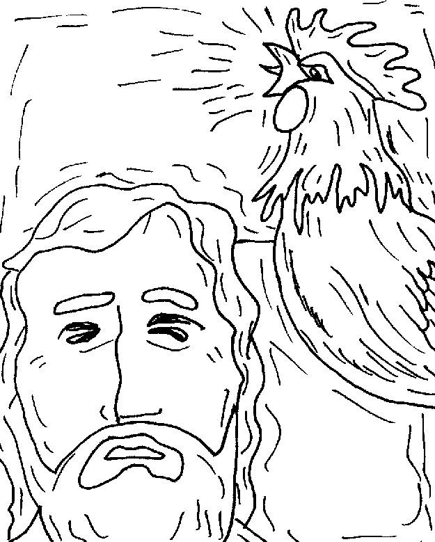 Peter's denial of Christ | Easter coloring pages, Coloring ...