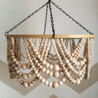 Here's How to DIY an $800 Beaded Chandelier for Just $170