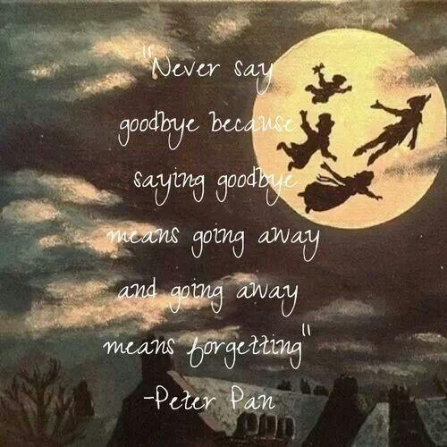 "{Peter Pan} ""Never say goodbye..."" PeterPan Neverland"