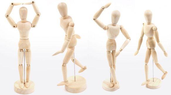 Wooden Doll Drawing Male Manikin Dollfie Mannequin Toy Bjd Art