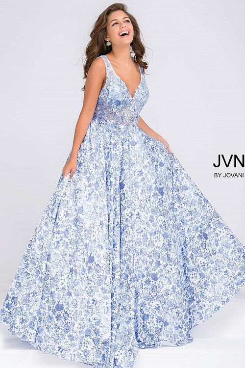 9b57f6e2b6c0 Buy the Embroidered Bodice Prom Ballgown JVN50050 by Jovani at  CoutureCandy.com, the largest selection of Jovani gowns available online.