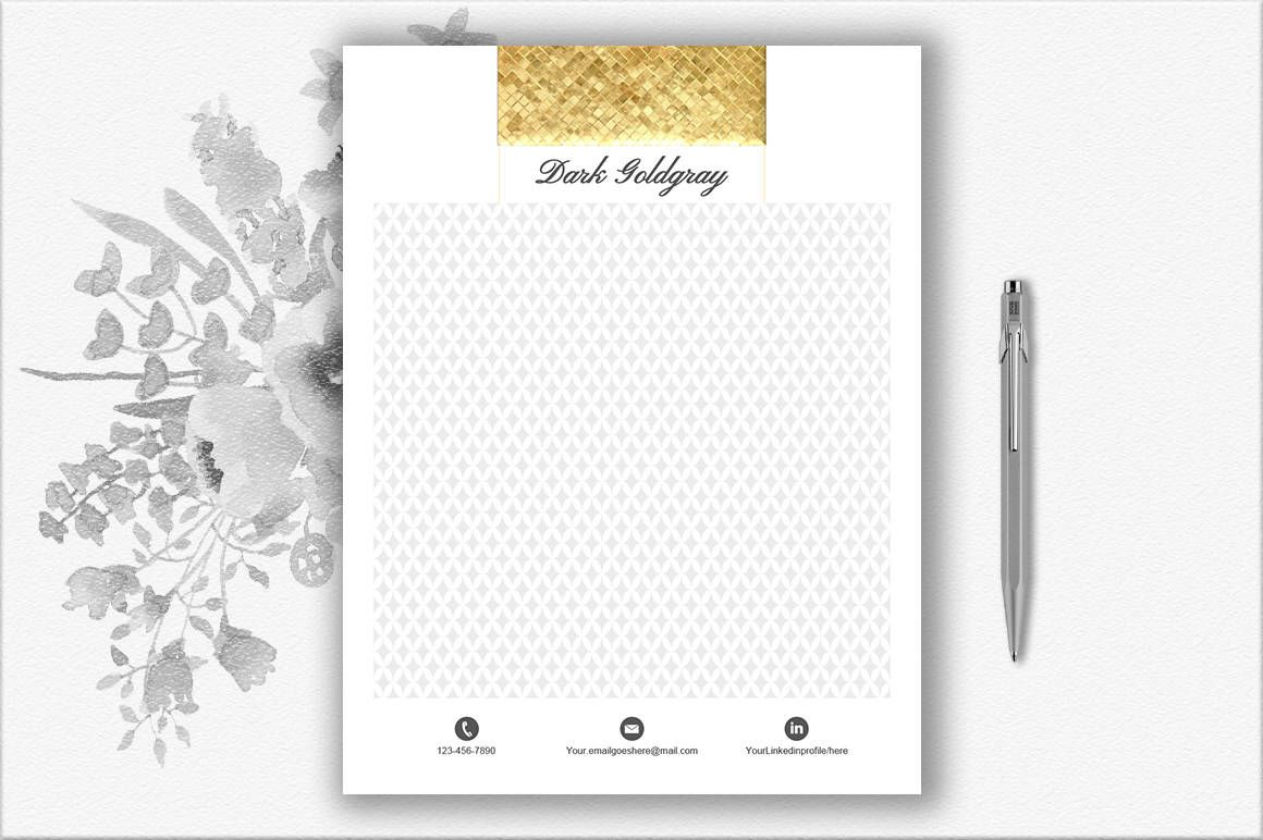 luxury letterhead template diy stationery gold stationery paper