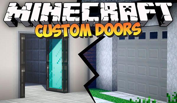 MalisisDoors Mod para Minecraft 1.12 y 1.12.2 Barn doors