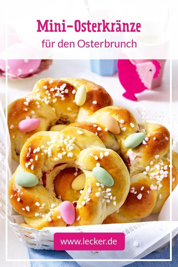 Mini-Osterkränze mit Zuckereiern Rezept | LECKER