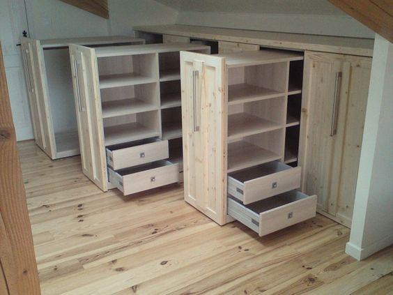 bildergebnis f r am nagement dressing mansard schrank f r dachschr ge pinterest dachboden. Black Bedroom Furniture Sets. Home Design Ideas