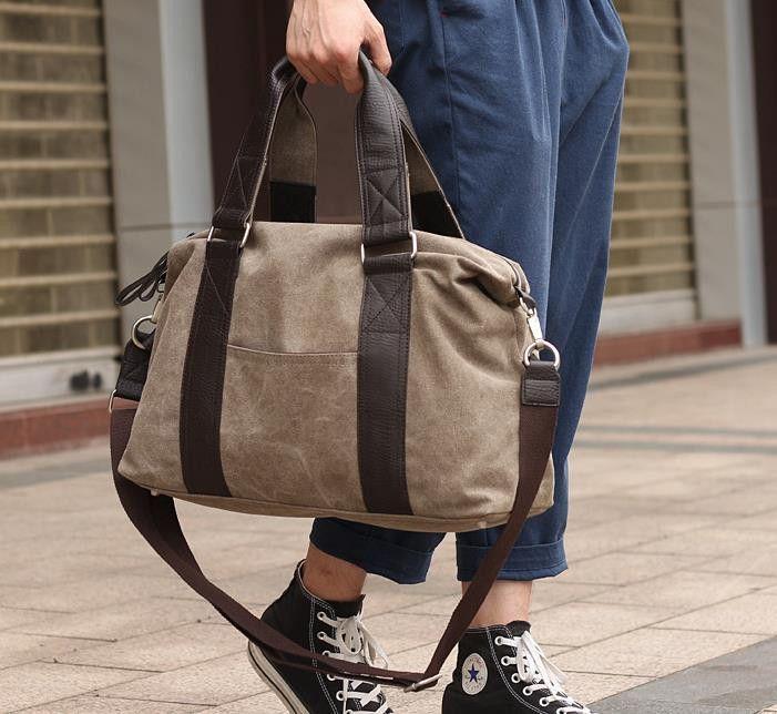 high quality canvas men travel duffel bag England Style man handbag vintage casual men messenger shoulder crossbody Laptop bags