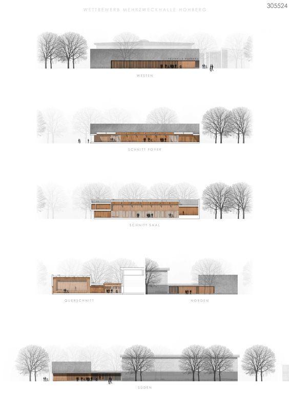 1. Preis: © Bär, Stadelmann, Stöcker Architekten - Ansichten #architekturdiagramme