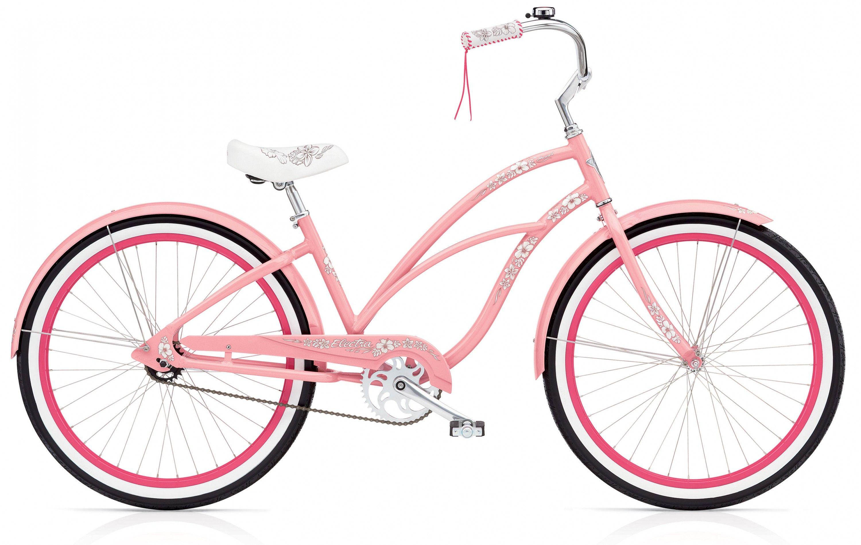 Hawaii 3i Electra Bike Pink Bike Cruiser Bike