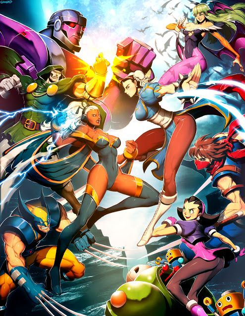 In This Anime Wallpaper We Have Marvel Vs Capcom Both Companies Have Being Going At It Since They Came Marvel Superheroes Artwork Marvel Vs Capcom Capcom Vs
