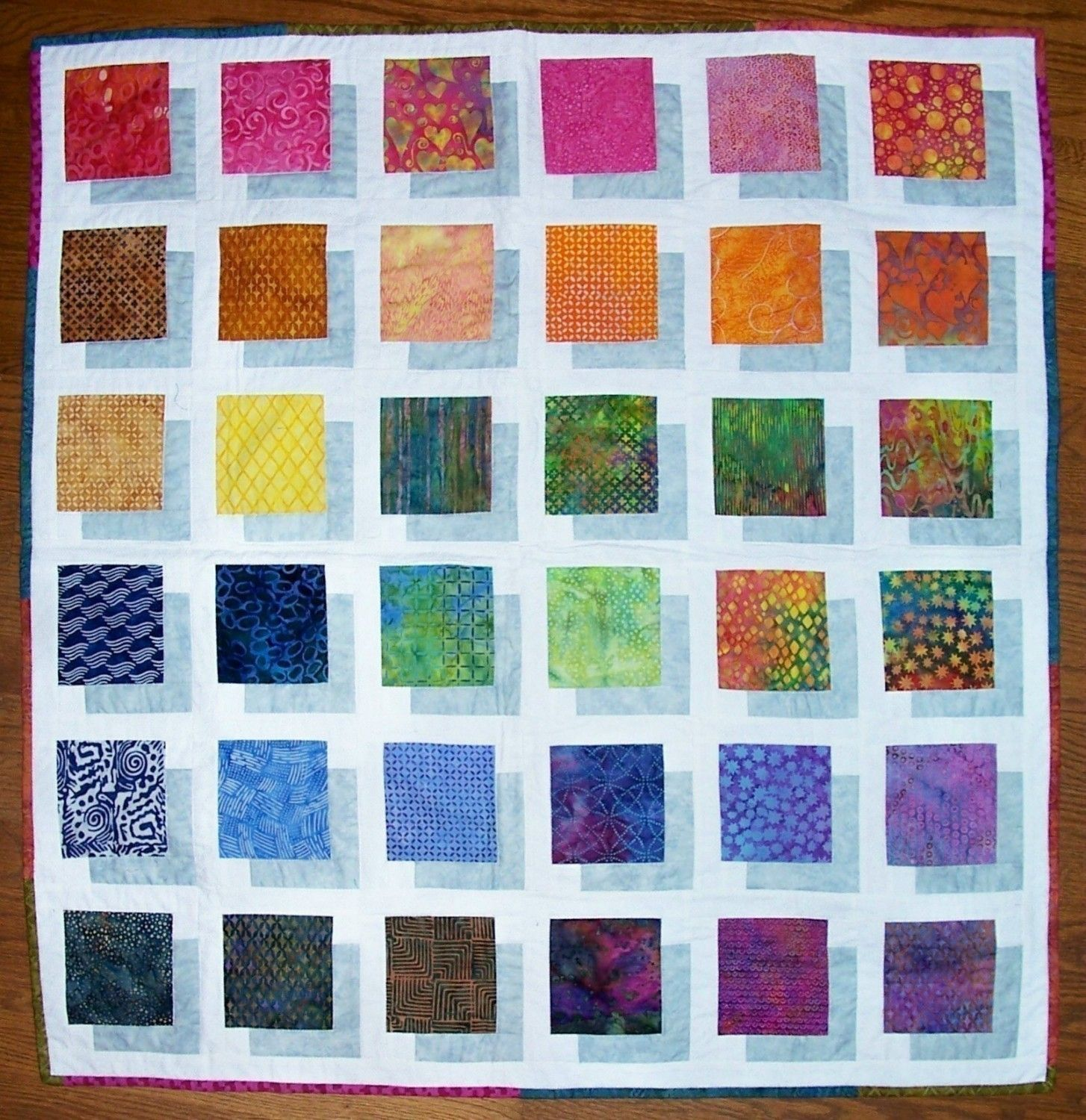 COLOR BLOCK Quilt Pattern to make this Stunning Quilt Full ... : quilts and color - Adamdwight.com