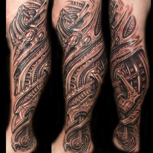Legendary Leg Tattoos Inked Magazine Biomechanical Tattoo Leg Tattoos Tattoos For Guys
