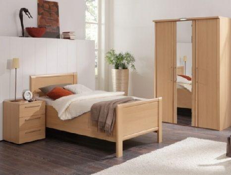 ledikant Limone kleur: beuken eenpersoons comforthoogte Het bed ...