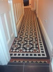 Minton Tiled Floor We Restored Under Stairs Cupboard Minton