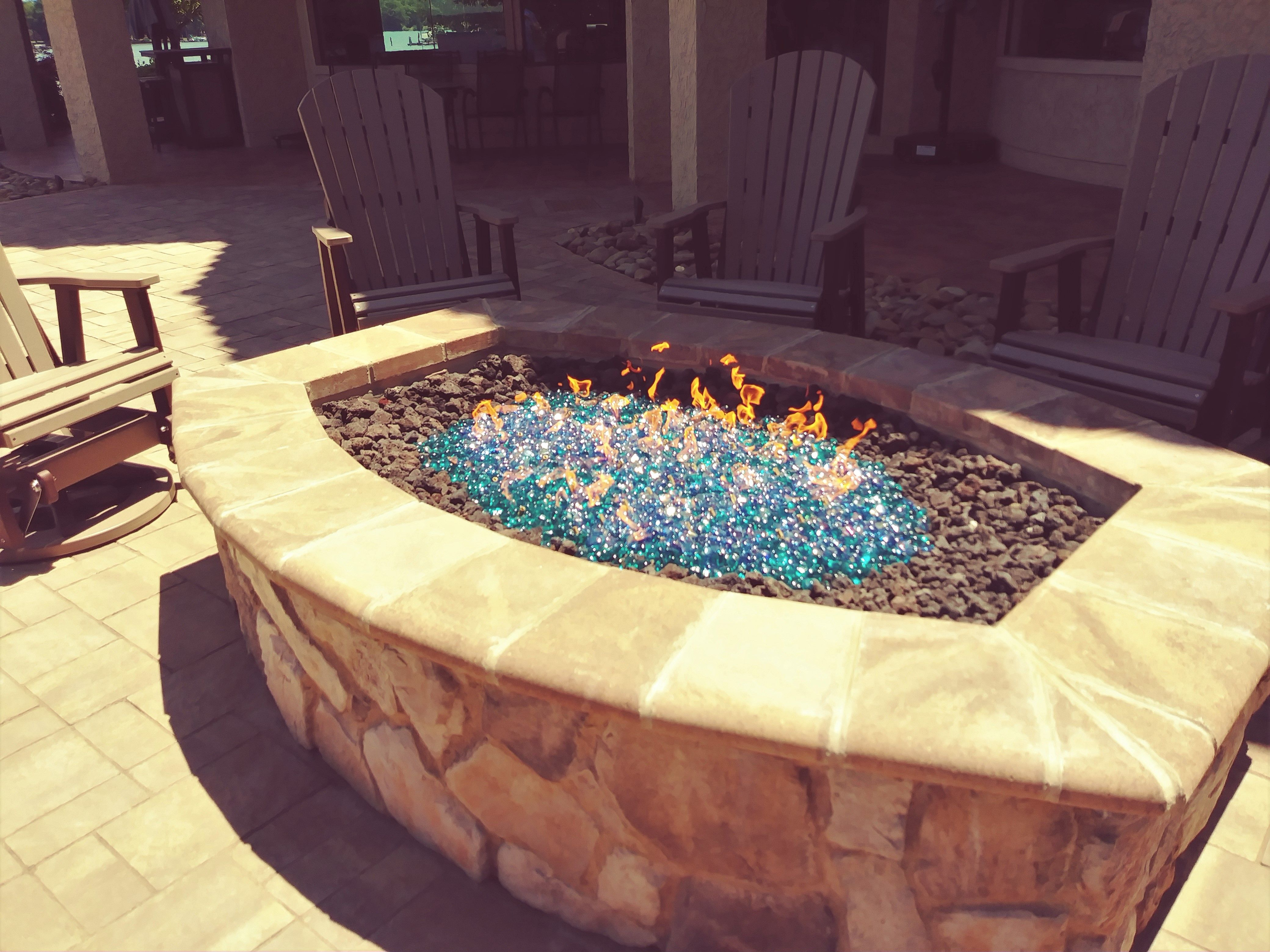 Happy Customer Thinks Outside The Box With A Lava Rock Fireglass