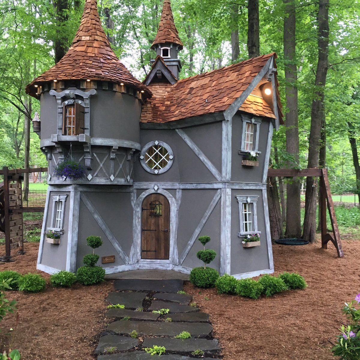 Charmed Playhouses on | Playhouse, Kids House, Fairytale ...