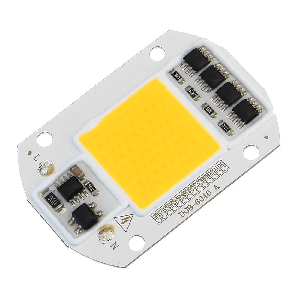 High Power 50w White Warm White Led Cob Light Chip With Lens For Diy Flood Spotlight Ac220v In 2019 Products Pinterest