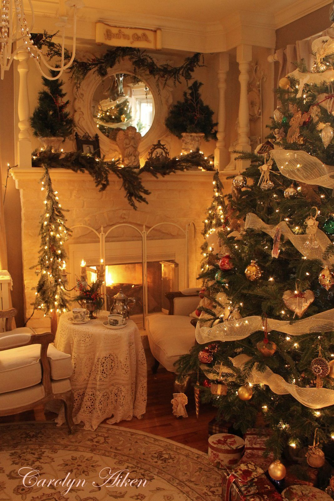 Hello everyone,      Come on in and join me for some holiday tea by the fireside.It has been a little chilly out so it is cozy here by the f...