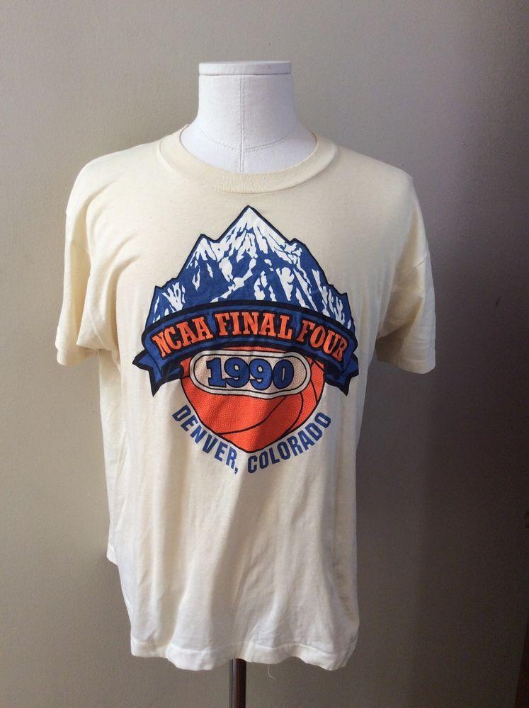 Vintage NCAA Basketball Final Four Denver Colorado 1990 T