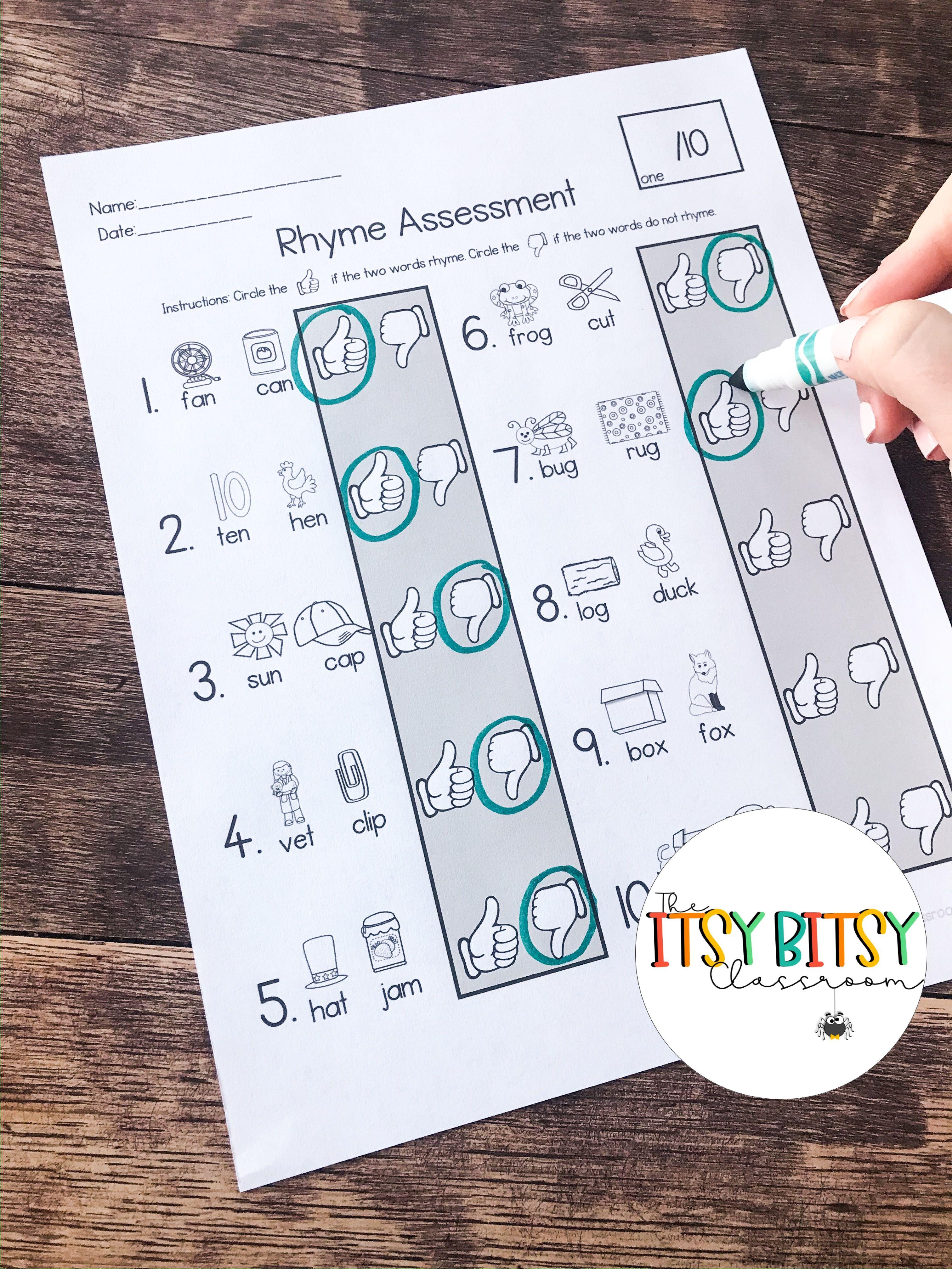Rhyme Assessment Pack