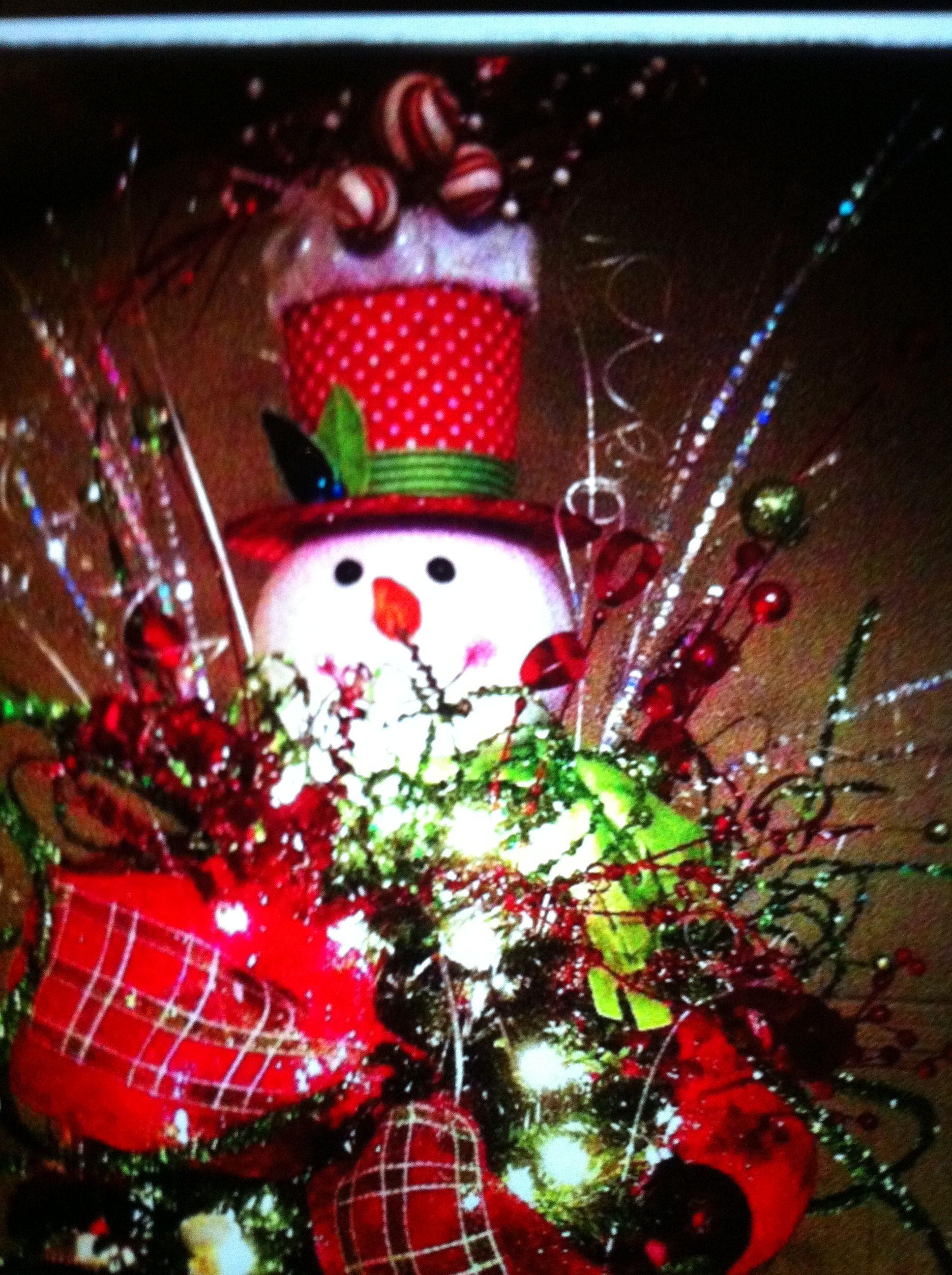 Snowman Tree Topper Holiday Decor Christmas Xmas Decorations Xmas Ornaments