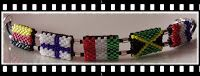 P@tty Perline : Griglie bracciali in tessitura  Note: Cute idea for a peyote flag bracelet. US and PR flags are charted as well!