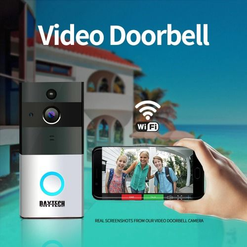 Details about Wireless WiFi Video Doorbell Camera IP Ring